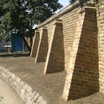 how to build a brick buttress