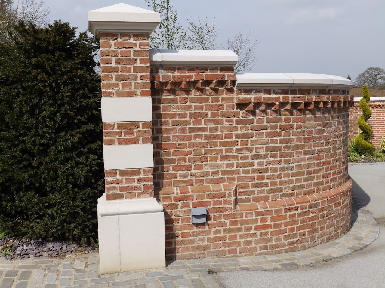 Brick Garden Wall Repair With Matched Brick Capping ...